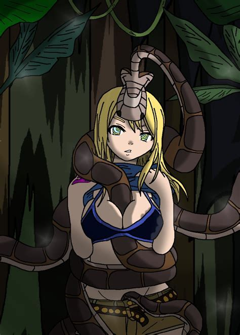 Kaa And Lucy Heartfilia By Phantomgline On Deviantart