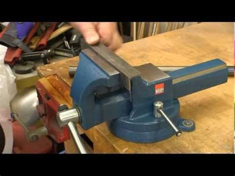 forged steel bench vise bessey 174 forged steel bench vise youtube