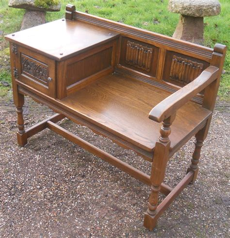 old bench seat old charm oak hall bench seat