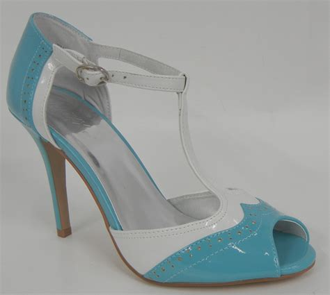 blue and white oxford shoes brand new blue white patent high heel peep toe