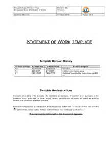 Procurement Statement Of Work Template by Statement Of Work Template
