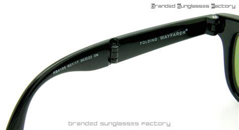 Raybn Wayfarer Folding Black ban folding wayfarer rb4105 601 17 50mm sunglasses