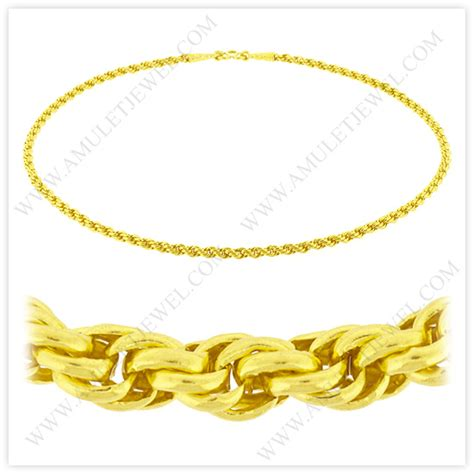 nm 0023 1baht 1 baht polished solid rope chain necklace