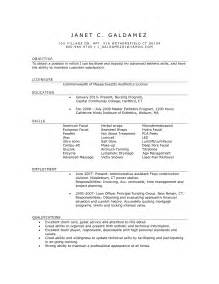 simple esthetician resume and cover letter sles