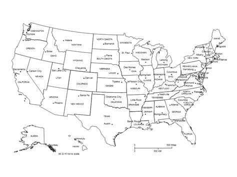 printable us map with capital cities usa powerpoint map clipped with capital cities labels