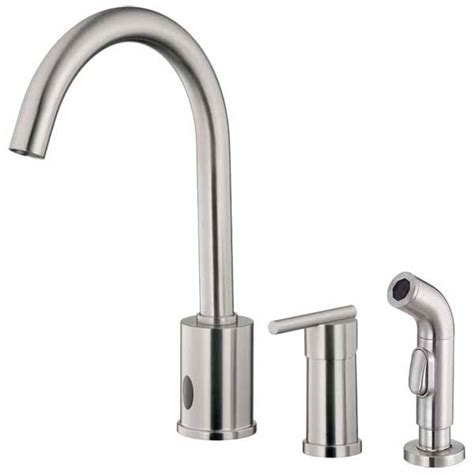 sensor kitchen faucets hands free sensor operated kitchen faucets