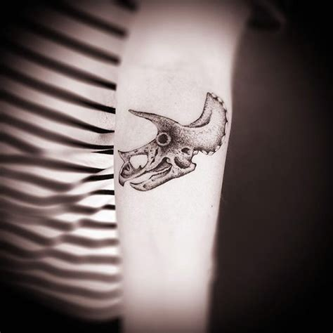 triceratops skull tattoo on arm best tattoo ideas gallery