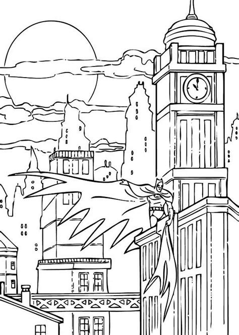 chicago city skyline coloring pages