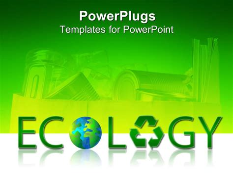 powerpoint templates free ecology powerpoint template large green ecology text with a