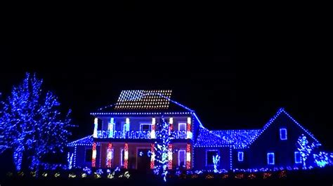america christmas light set up florida house lights up with most patriotic light show