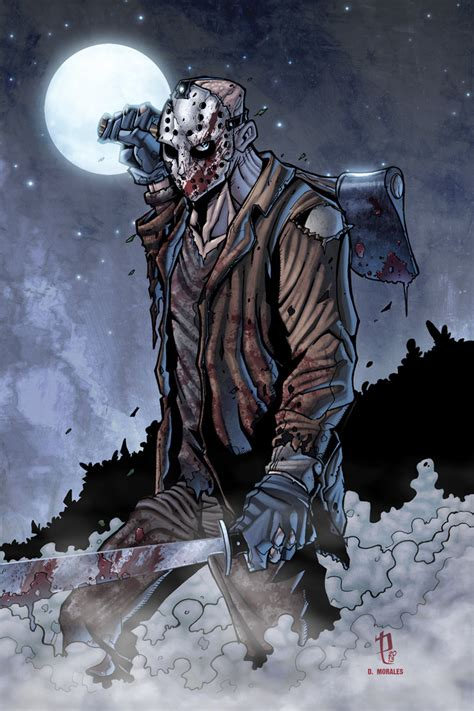 imagenes de halloween jason jason voorhees print by puis calzada colored by dany