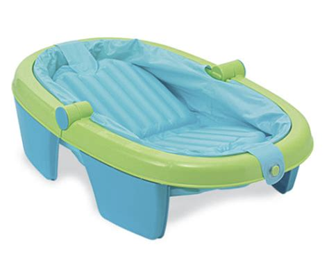 foldable baby bathtub summer infant fold away baby bath bn ebay