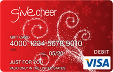 Give Cheer Visa Gift Card - gift cards online gift certificates and e gift cards giftcardmall com