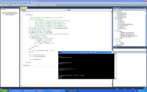 console writeline visual basic console application with arguments