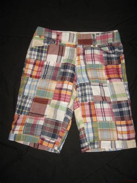Womens Madras Patchwork Shorts - duck junior womens madras plaid patchwork bermuda