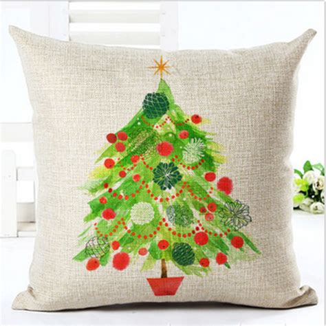 christmas sofa covers 18x18 quot christmas style cotton linen pillow case sofa