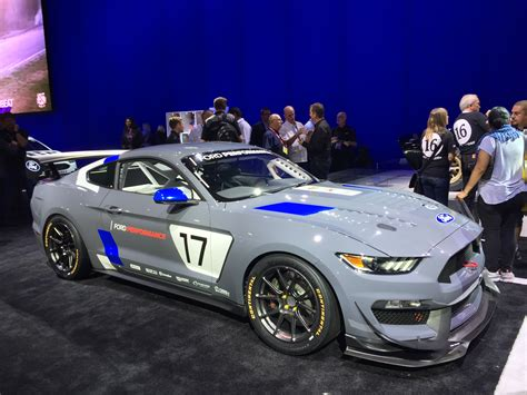racing mustangs ford unveils mustang gt4 customer race car at 2016 sema show