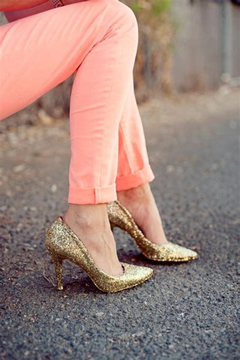 diy gold glitter shoes diy glitter heels best friends for frosting