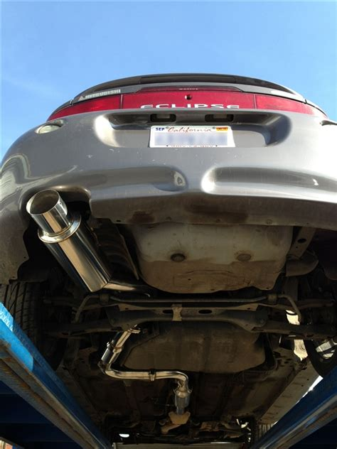 mitsubishi eclipse exhaust system srs mitsubishi eclipse gst 95 99 catback exhaust system