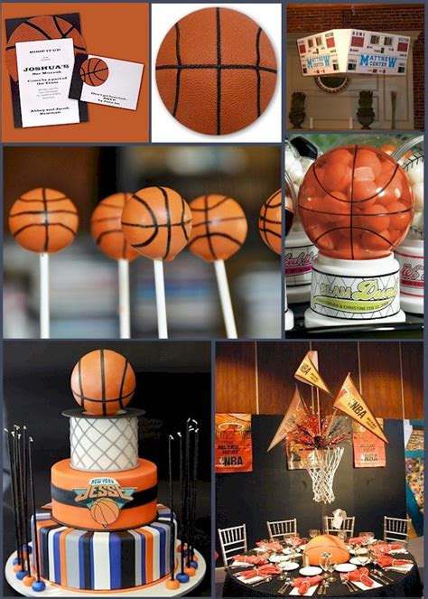 basketball themed decorations basketball favor ideas hoop it up with a basketball