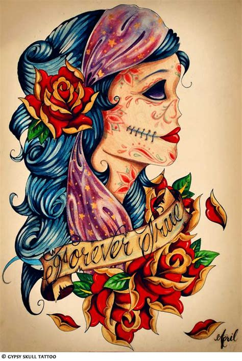 gypsy head tattoo designs images designs