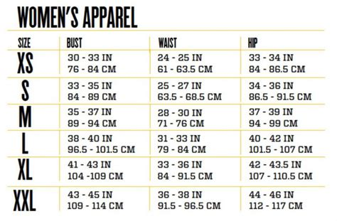 sizing chart persephone s clothing
