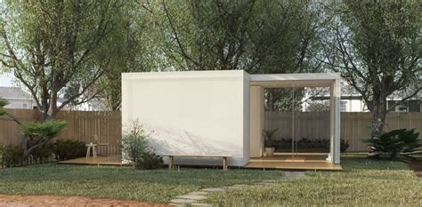 prefab backyard cottage prefab backyard cabin by cover is made from pre insulated steel panels