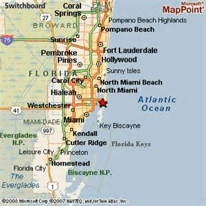Map Of Miami Area by Miami Beach Area Map Submited Images