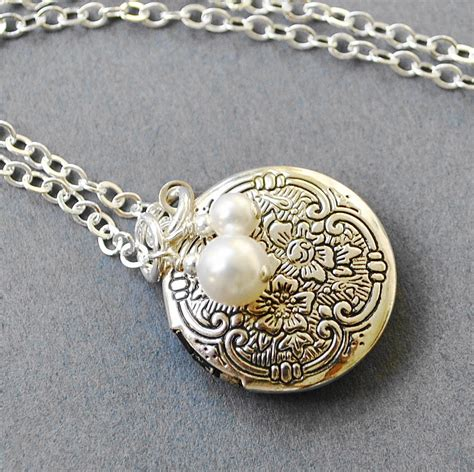 jewelry lockets silver locket necklace jewelry bridesmaid