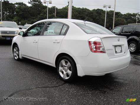 white nissan sentra 2008 2008 nissan sentra 2 0 s in fresh powder white photo 2