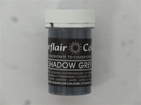 gray food coloring sugarflair shadow grey pastel paste gel edible