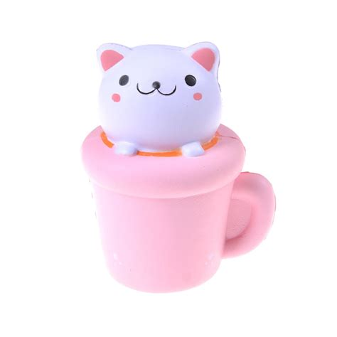 Squishy Cat Cup by 1pcs Soft Pink Cup Cat Squishy Rising Elastic Pu