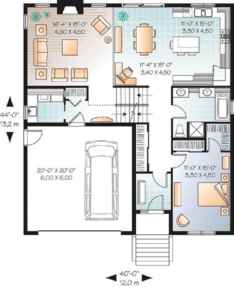 flexible two family house plan 21244dr 1st floor flexible split level home plan 21915dr 1st floor