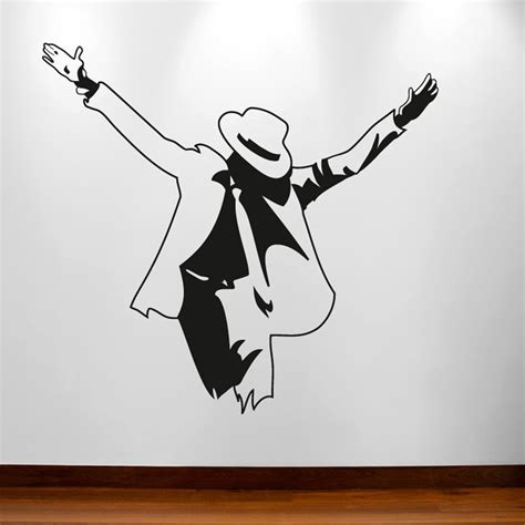 michael wall stickers michael jackson pose wall sticker wall chimp