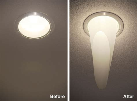 mylar light diffuser for recessed ceiling lights