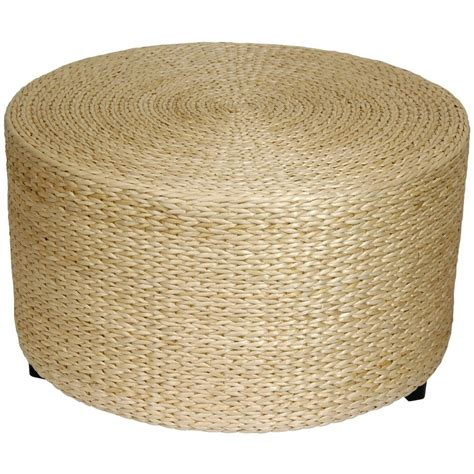 Woven Coffee Table Ottoman Furniture Grass Coffee Table Ottoman