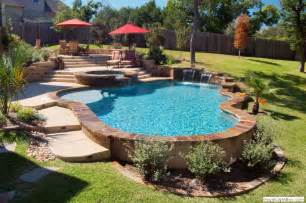 pool designs freeform geometric vanishing edge