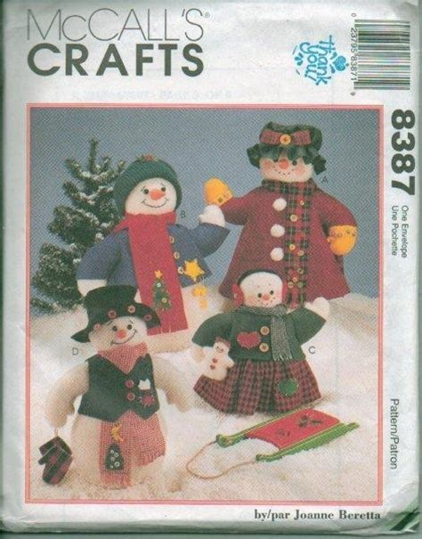 patterns christmas snowman mccalls christmas snowman holiday sewing pattern xmas snow