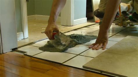 Installing Backsplash Kitchen by How To Lay Tile Over A Tile Floor Today S Homeowner