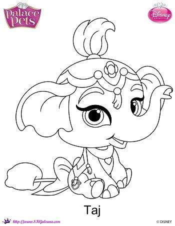 Disney Princess Palace Pets Taj Coloring Page Skgaleana Princess Palace Pets Pictures Free Coloring Sheets