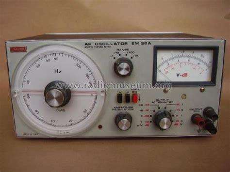 Alternating Current Machines Af Puchstein af oscillator em98a equipment unaohm start s r l ohm ing