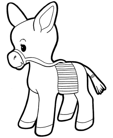 christmas donkey coloring page free realistic animal coloring pages realistic animal