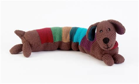 knitted sausage pattern stripy sausage 183 extract from knitted dogs and puppies