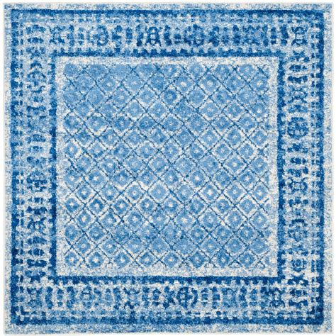 4 foot square rug safavieh adirondack silver blue 4 ft x 4 ft square area rug adr110d 4sq the home depot