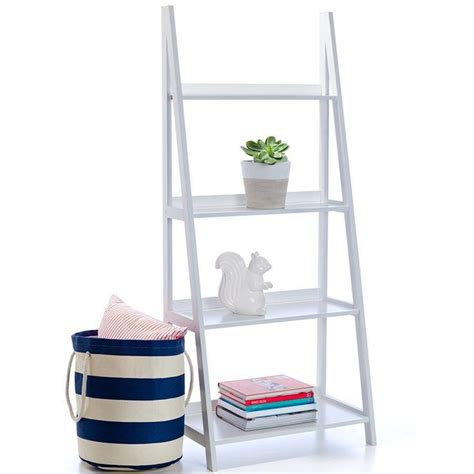 white ladder shelves ladder bookshelf white kmart covet