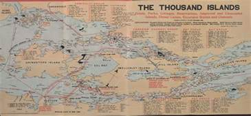 thousand islands canada map the thousand islands hotels parks cottages