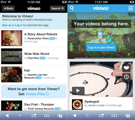 mobile vimeo vimeo overhauls its mobile site with commenting