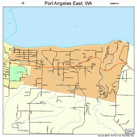port angeles map port angeles east washington map 5355400