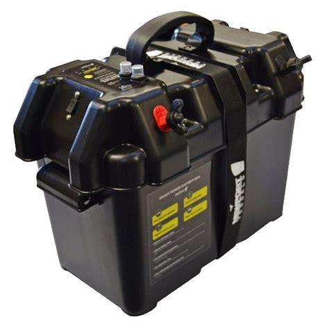 boat battery box with switch trolling motor battery box marine boat smart power holder