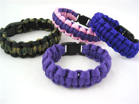handmade survival bracelet 550 paracord color of choice